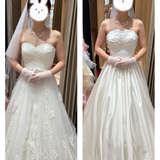試着したドレス。どちらも55,000円
