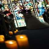 ステンドグラスが素敵な教会にて