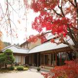 紅葉がとても綺麗で贅沢な日本庭園