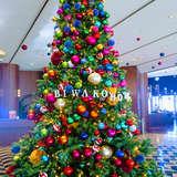 ホテルのロビー。クリスマスシーズン