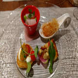 料理の試食の際の写真(9000円コース)