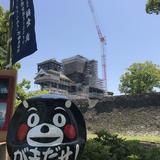くまモンだるま 修復中熊本城