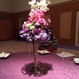 テーブルの花の飾りの例