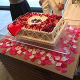 ケーキがとても可愛くて美味しかった