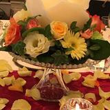 式場内の装花もイメージ通りで満足です。