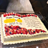 ブック型のケーキ。