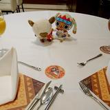 披露宴会場の試食テーブル