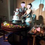 WDケーキ、ケーキ装花