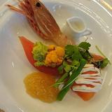 魚介と旬菜のコンソメジュレかけ