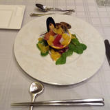魚介とフルーツの前菜