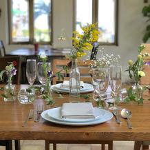 3000円のテーブル席装花