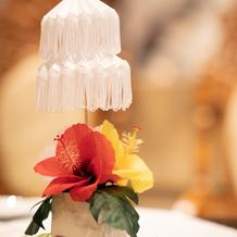 手作りの卓上装花