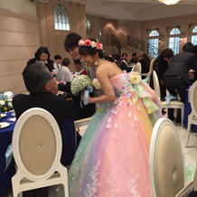 レイボードレス1番着なかったドレス。
