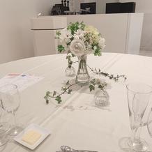 テーブル装飾確認