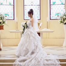 式場で借りたウェディングドレス