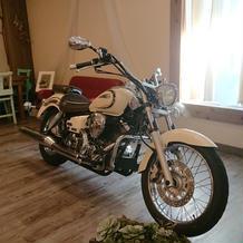 私物のバイク展示