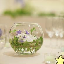 ゲストテーブルお花コーディネート