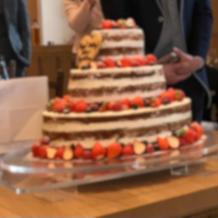 ケーキが最初から出ていた為パサパサだった