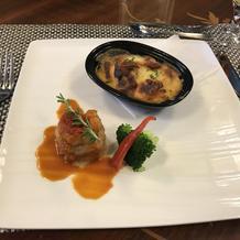 メインの魚料理(海鮮)