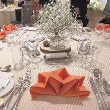 テーブルのセット