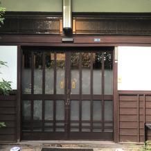 自動ドアの玄関