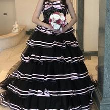 試着したドレス。2wayタイプでした