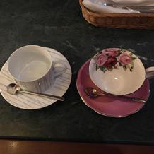 食後のコーヒーカップ