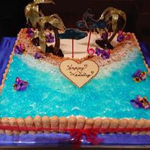 海のケーキ