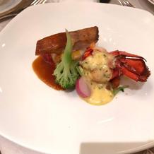お魚料理(オマール海老)