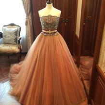 色味に一目惚れしたカラードレス