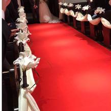 神聖な赤い絨毯