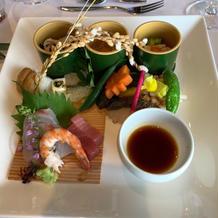 和洋折衷18000円コースの前菜