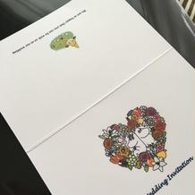手作り招待状・表