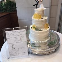オリジナルのケーキをデザインできます