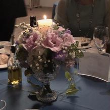 テーブル装花キャンドルサービス