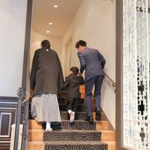 ブロッサムガーデンという披露宴会場内階段