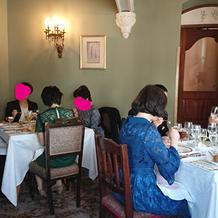 昼の部 親族と2階席にて会食