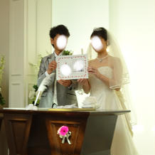 くまモンの婚姻届を誓約書にしました