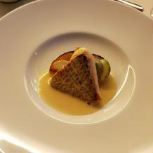 真鯛のこんがりロースト 白ワインソース