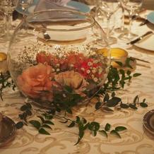 最安プラン+ランナーの卓上装花です。