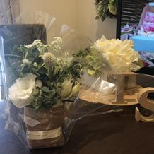 フェア参加時のお土産で貰ったお花