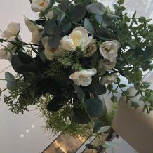 バージンロードの装花