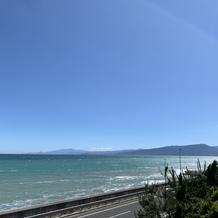 ガーデン側から撮影した海!見渡せます
