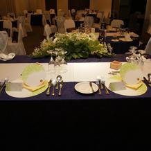 披露宴会場 メインテーブル