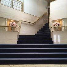 写真スポットの階段