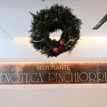 クリスマス近いとレストランで嬉しい演出も