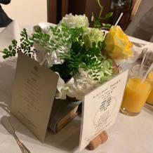 花とメニュー表