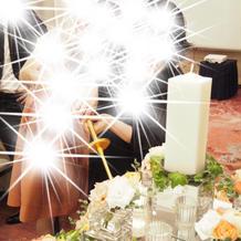 お色直しの間ゲストがキャンドルを灯します