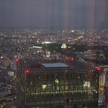 窓から名古屋城が見えました