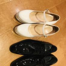 新婦ヒールと新郎靴